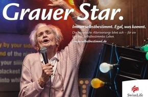 """Swiss Life Deutschland: Mit """"Grauem Star"""": Swiss Life startet Werbekampagne mit jung gebliebenen älteren Menschen für ein längeres, selbstbestimmtes Leben"""