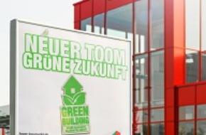 """toom Baumarkt GmbH: Nachhaltiges Bauen für eine grüne Zukunft / toom Baumarkt erhält """"Silber""""-Zertifizierung der DGNB für seine Baubeschreibung zur Errichtung nachhaltiger Märkte"""