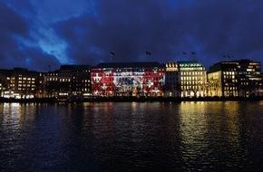 Swiss International Air Lines: Lichtinstallation für mehr Achtsamkeit / Einzigartiger Augenblick in Hamburg