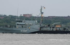 """Presse- und Informationszentrum Marine: Minentauchereinsatzboot """"Bad Rappenau"""" wieder unter NATO-Flagge"""