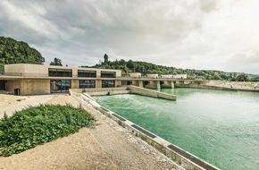 BKW Energie AG: Wasserkraftwerk Hagneck / Modernstes Flusskraftwerk der Schweiz geht in Betrieb
