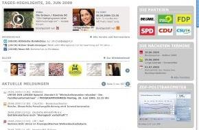 news aktuell GmbH: Informationsportal www.wahljahr09.de fest etabliert - Angebot der dpa-Tochter news aktuell stellt für Parteien und andere politische Organisationen hohe Reichweite im Internet her