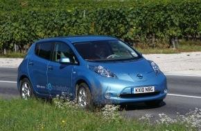 Nissan Switzerland: Nissan LEAF ist Auto des Jahres 2010