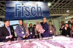Messe Berlin GmbH: Grüne Woche 2016: Seafood-Markt: Fisch ganz nah erleben