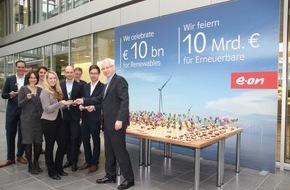E.ON Energie Deutschland GmbH: E.ON überspringt Marke von 10 Milliarden Euro bei Investitionen in Erneuerbare Energie