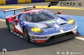 """Ford-Werke GmbH: Das Rennen kann beginnen: Ford GT Le Mans-Rennwagen jetzt als Download für Xbox One-Spiel """"Forza Motorsport 6"""""""