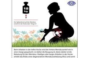 AGA Gesellschaft für Arthroskopie und Gelenkchirurgie: Sommerzeit  - Gartenzeit: Auf die Knie, fertig, los! / Gartenarbeit ohne Reue - 8 Tipps von den Orthopäden der AGA, wie Sie Ihre Kniegelenke schonen können
