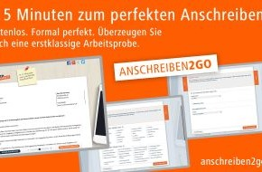 Jobware Online-Service GmbH: In fünf Minuten zum perfekten Anschreiben / Jobware startet kostenloses Bewerbungstool Anschreiben2Go