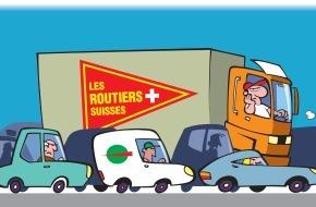Les Routiers Suisses: Manifestation sur la place fédérale contre les bouchons sur l'autoroute