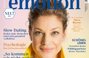 """EMOTION Verlag GmbH: Marie Bäumer: """"In Deutschland scheint Flirten ausgestorben zu sein"""""""