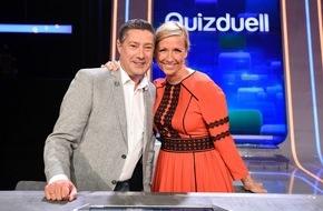 """ARD Das Erste: Das Erste: Andrea Kiewel und Joachim Llambi beim """"Quizduell-Olymp"""" am Freitag, 24. Juni 2016, 18:50 Uhr im Ersten"""