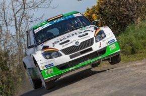 """Skoda Auto Deutschland GmbH: 50. """"Ypres Rally"""": SKODA im Zeittraining vorn"""
