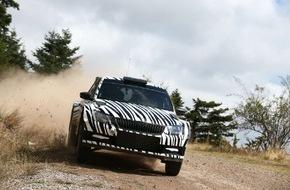 Skoda Auto Deutschland GmbH: SKODA Fabia R 5: Entwicklung des neuen Rallye-Fahrzeugs läuft nach Plan