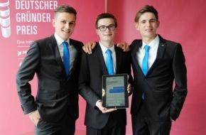 Deutscher Gründerpreis für Schüler: Deutscher Gründerpreis für Schüler geht nach Leutkirch