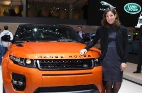 JAGUAR Land Rover Schweiz AG: Nicola Spirig: Triathlon Olympiasiegerin 2012 zu Gast bei Land Rover in Genf (Bild)