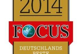 """DVAG Deutsche Vermögensberatung AG: """"Focus""""-Spezial """"TOP nationale Arbeitgeber 2014"""": Deutsche Vermögensberatung (DVAG) zählt zu den besten Unternehmen Deutschlands"""