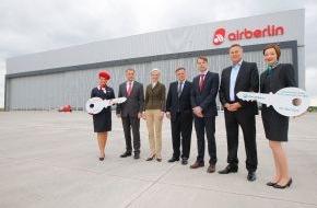 Air Berlin PLC: Schlüsselübergabe am BER: Wartungshangar in Betrieb genommen / airberlin und Germania nutzen größten Technikneubau zur Flugzeugwartung