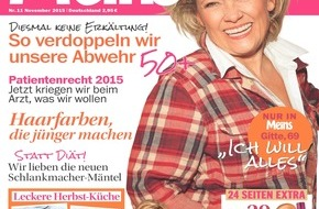 """Bauer Media Group, Meins: Gitte Haenning in Meins: """"Das Alleinleben hat große Vorteile"""""""