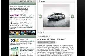 news aktuell GmbH: OTS auf dem iPad: Neue App der dpa-Tochter news aktuell