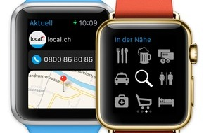 local.ch: Apple Watch is coming soon - local.ch hat schon die App dazu