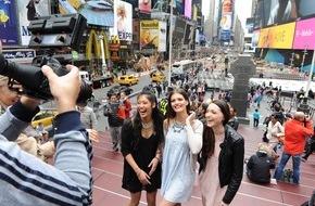 """ProSieben Television GmbH: Die Finalistinnen von """"Germany´s next Topmodel"""" unterwegs in New York"""