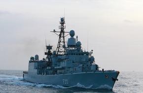 """Presse- und Informationszentrum Marine: Fregatte """"Augsburg"""" kehrt vom Einsatz im Mittelmeer zurück"""