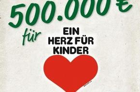 """LIDL: Für Kinder in Not: Lidl spendet 500.000 Euro an """"Ein Herz für Kinder"""" / Gemeinsam mit seinen Kunden und Mitarbeitern unterstützt Lidl die Hilfsorganisation im Kampf gegen Kinderarmut"""