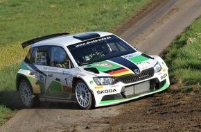 Skoda Auto Deutschland GmbH: Licht und Schatten für SKODA bei der ADAC Hessen Rallye Vogelsberg