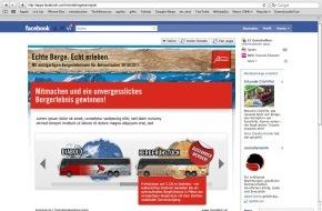 Montafon Tourismus: Facebook-Bus füllen und Montafoner Bergerlebnisse gewinnen