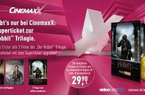 """CinemaxX Holdings GmbH: Jetzt bei CinemaxX: Das SuperTicket zu der """"Der Hobbit""""-Trilogie / Alle drei Filme des Meisterwerks plus eine exklusive Sammlermünze per Kinoticket-Upgrade!"""