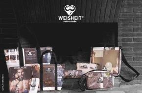 Weisheit: Unter dem Label WEISHEIT produziert ein junges Team Accessoires und Taschen, die etwas anders sind als alles, was bisher auf dem Markt war - Swiss Made & Fairtrade