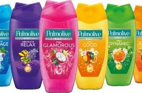 GABA Schweiz AG: Stimmung in der Dusche: Die neuen Palmolive Aroma Sensations Duschgels beleben die Sinne