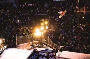 Innsbruck Tourismus: Air + Style Innsbruck presented by Opel: Snowboardevent der Spitzenklasse mit Top-Music-Act