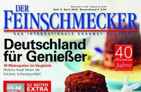 """Jahreszeiten Verlag, DER FEINSCHMECKER: DER FEINSCHMECKER vergibt die """"WINE AWARDS"""" 2015"""