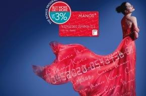 Manor AG: Jetzt bis zu 3% Bonus - Manor lanciert Bonus-Programm für treue Kunden