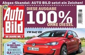 AUTO BILD: Nach Abgasskandal: Aktuelle AUTO BILD-Ausgabe verzichtet auf Diesel-Fahrzeuge
