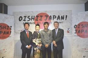 """Oishii Japan - im Auftrag für MAFF: In Bern startet die Aktion """"Oishii Japan! Discover delicious Japan!"""" / Japanische Botschaft und MAFF informieren über japanische Spezialitäten"""