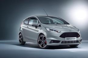 Ford-Werke GmbH: Europa-Debüt für den Ford Fiesta ST200: Mehr Power und nochmals gesteigerte Fahrdynamik im sportlichen Kleid