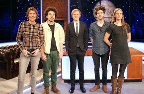 """SWR - Südwestrundfunk: Bettina Böttinger und Band """"Dota"""" bei Pierre M. Krause  """"Die Pierre M. Krause Show - SWR3 Latenight"""" / 3. Mai, 23:25 Uhr, SWR Fernsehen"""