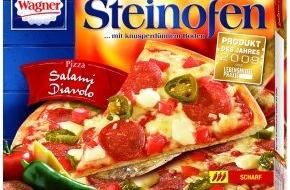 Nestlé Wagner GmbH: Die Verbraucher lieben es scharf / Produkt des Jahres 2009: Wagner Steinofen-Pizza Salami Diavolo