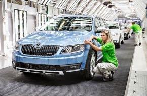 Skoda Auto Deutschland GmbH: Produktionsstart für neuen SKODA Octavia Scout