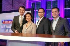 WDR Westdeutscher Rundfunk: US-Wahl 2012 - Das Erste berichtet live mit Experten und prominenten Gästen aus Berlin