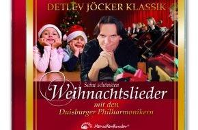 Menschenkinder Verlag: Detlev Jöckers neue Wege - Weihnachts-CD mit den Duisburger Philharmonikern (mit Bild)