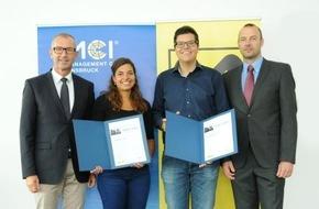 MCI Management Center Innsbruck: Engagierte MCI Studierende mit Raiffeisen International Award ausgezeichnet