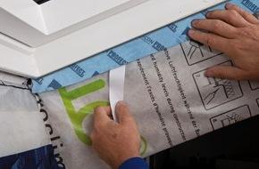 MOLL bauökologische Produkte GmbH: Neues anschmiegsames, vorgefaltetes Winkelanschlussband für Eckanschlüsse innen und außen: pro clima TESCON PROFECT