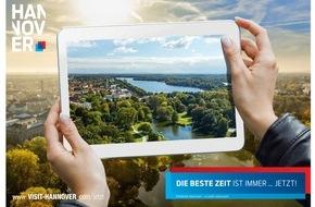 """Hannover Marketing und Tourismus GmbH: Hannover: """"Die beste Zeit ist immer ... jetzt!"""""""