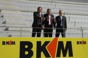 BKM Bausparkasse Mainz AG: BKM Bausparkasse Mainz wird Premium-Bandenpartner in der Coface Arena (mit Bild)