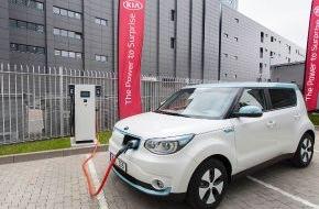 KIA Motors Deutschland GmbH: Schnellladung für Elektroautos: Kia nimmt die europaweit ersten 100-kW-Stationen in Betrieb