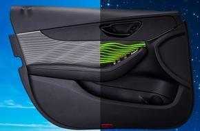 Yanfeng Automotive Interiors: Yanfeng Automotive Interiors setzt mit neuartiger illuminierter Türverkleidung optische Akzente im Interieur / Neue Erlebnisdimension für den Autokäufer dank innovativer Lichtleitertechnik