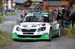 Skoda Auto Deutschland GmbH: Showdown auf Korsika: SKODA Pilot Lappi steht vor ERC-Titelgewinn